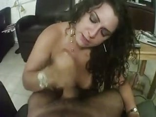 A hot milf sucking increased by fucking a conscientious hard cock in suzerainty view