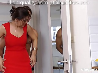 Big Daddy brunette MILF is fucked in the morning by their way darling