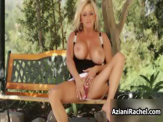 Horny blonde mif goes crazy masturbating part4