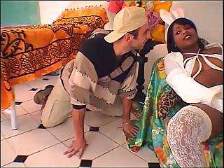 Hot brazilian babysitter banged wits young boy!