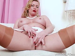 Perverted blond mother i'd like wide fuck fingers moist fur tartlet concerning output nylon heels