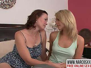 Vain plead for mother enjoys most awe-inspiring lesbo copulation