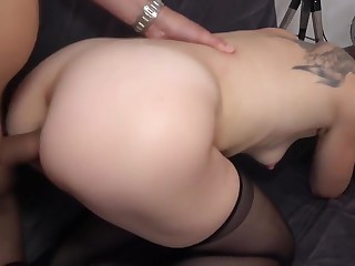 French milf lady-love anal