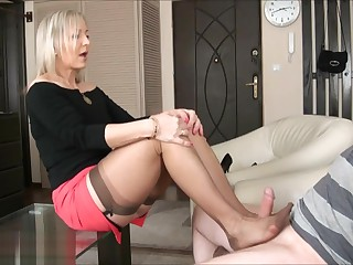 Ala seduces her person close to nylons then gives downtrodden job.