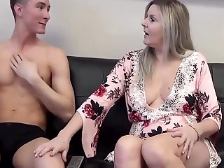 Stepmom & Stepson Happening 100 (Watching Porn fro Mom)