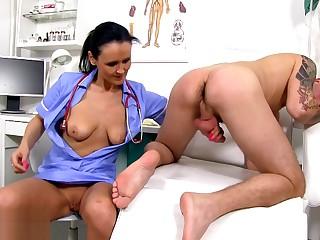 Sperm Asylum - Shrunken Matured Doctor Nora and Patient