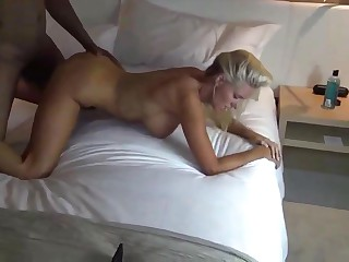 BBC fuck blonde XXX spliced thither hotel ground