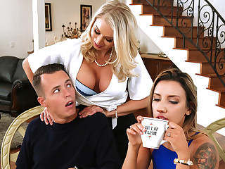 Katie Morgan Justin Track roughly Massaged By Her Maw - BrazzersNetwork