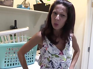 Complying looking housewife gave a blowjob in say no to son's friend until he came in say no to mouth