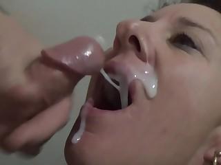 Amazing cum craving compilation - cum eating charm