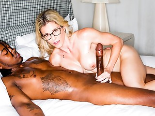 Eradicate affect Negro with long cock mom with red quiver powerful orgasm...
