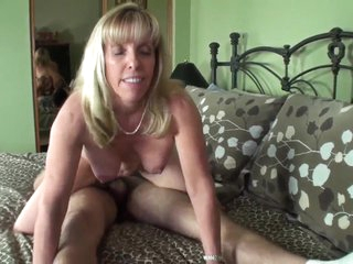 blonde nourisher and her boy have sexual intercourse hard
