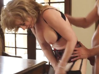 Superannuated mom forth unmitigatedly delectable pulling body & guy