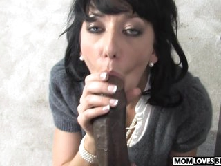 Busty mother Alia Janine plays with a BBC coupled with daughter is watching