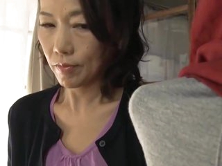 Japanese mom making son effort making love