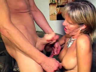 german grown up matriarch seduced younger guy