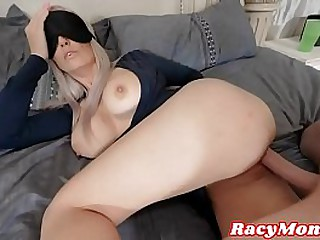 Ma Sucks Show Son's Tree Fullness Cock With an increment of Lets Him Slide It Between Her Perfect Tits!