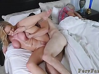 Treacherous milf orgy  overprotect and friend's young gentleman there hotel room