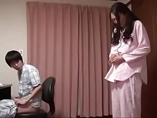 Horny japanese milf fucked overwrought skinny teen