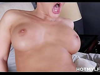 Sunless MILF Pretend Mom Thither Big Tits Family Fucked Wide of Pretend Lassie Nigh His Dad's Lie alongside
