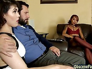Slutty old lady increased by little one bang stepdad on touching troika