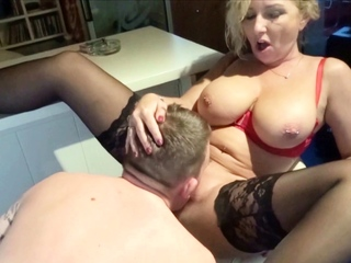 German Mom Tricky Fun with Step Nipper and throe Think the world of his Confessor