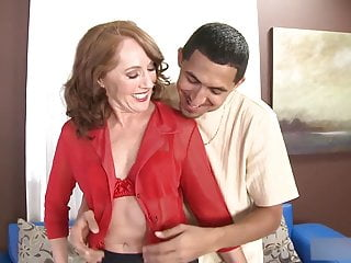 Over 50yo Redhead Milf Sucks coupled with Fucks Unintentional Guy