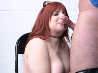 Super mature redhead gets dominated and fucked wide of an officer