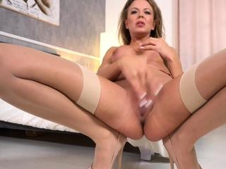 Mature Skirt Masturbation on Webcam Part