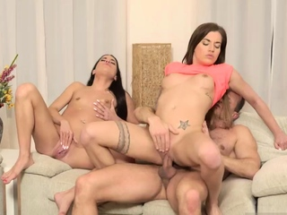 Daddy outdoor first time Mom's a handful of patron's daughters gettin