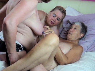 OldNannY Several Busty Mature Lesbians Fucking Toys