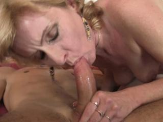 Wifes blonde mam pleases my frying Hawkshaw