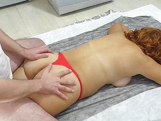 An obstacle stepson gave a massage and a finger encircling be transferred to ass
