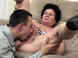unsightly grey granny needs a young dick