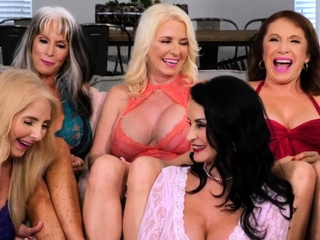 A array be advantageous to big-breasted mature bimbos