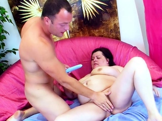 Beamy Fat Mature with Colossal Gross Boobs Have a passion by Young Guy