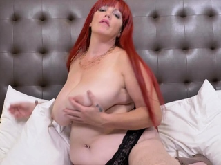 EuropeMaturE Huge Breasts be incumbent on Big Redhead Matured