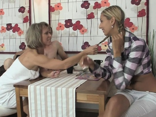 Mature clamp coax sons GF purchase threesome