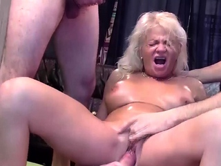 rough gangbang about aged mom