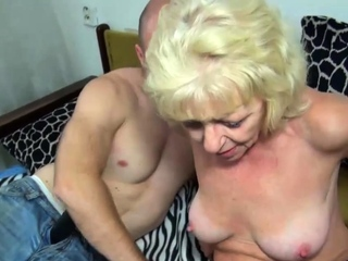 Plowing old nanny's hairy cunt