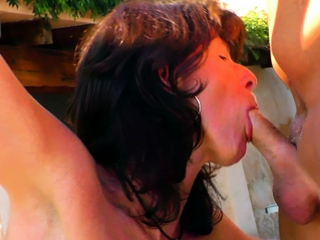 german hideous mature mom give saggy titties open-air