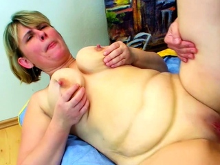 Gigantic Saggy Tits Mum Fuck wits Heavy Dick Step Lady together with Facial