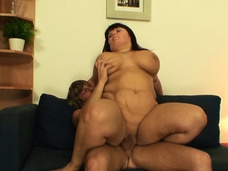 Jumbo tits old mature drag inflate coupled with tool along his chunky dig up