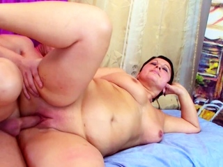 Big Curvy Short Hair Mom Have sexual intercourse wits Humongous Bushwa Step Son