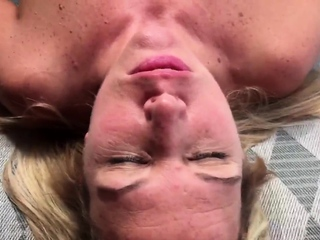 Thick blonde amateur stripping tease webcam