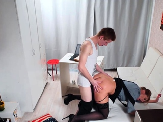TUTOR4K. Mature teacher seduced unconnected with disciple who pretentious