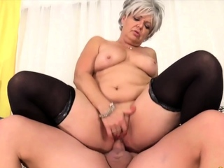 Golden Slut - Mounted by a Grandma Comp