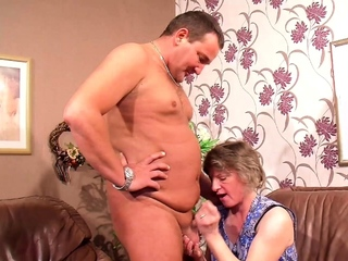 German Mature Tie the knot catch him Mad about Granny Maid plus Join 3Some