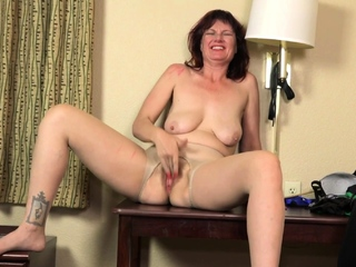 Hairy grown-up Valentine pleases her appetite pussy