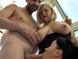 Prexy brit gran coupled with milf